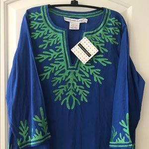 Gretchen Scott NWT Embroidered Tunic